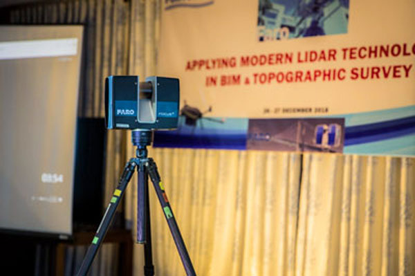 Applying laser scanning technology to detect errors in constructions in Vietnam