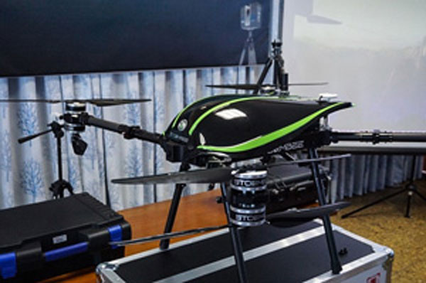 The first unmanned aircraft application in construction management